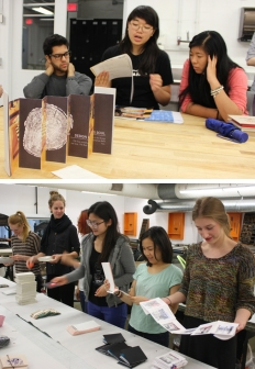 Bookarts and Nano Publishing critiques at OCAD University