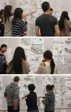 Drawing Explorations critique, Western University, 2011.