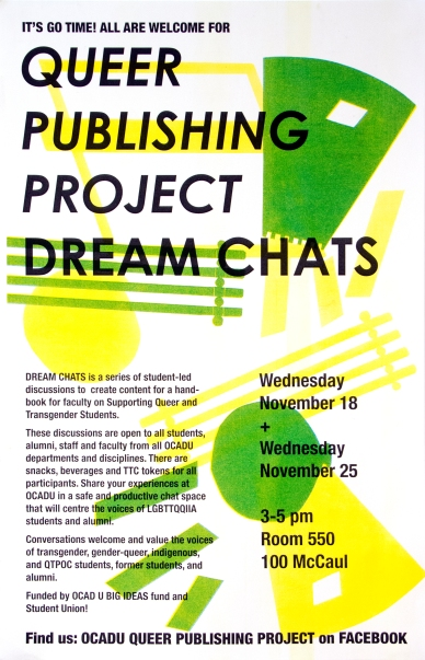 "Queer Publishing Project ""Dream Chat"" poster"